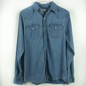 Levi's chambray long sleeve pearl snap buttons